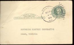 POST CARD 1c - SCOTT UY 7 - MARTHA WASHINGTON - WELVILLE 1951 - NICE CANCELLATION - 1941-60