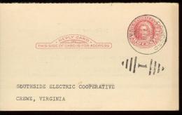 POST CARD 2c - SCOTT UY 13 - MARTHA WASHINGTON - CONCORD 1952 - NICE CANCELLATION - 1941-60