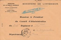 Lettre  De 1914  Du Ministere De L'interieur  - Cachet  Ministère + Cachet  Paris  Contre-seings - 3 Scan
