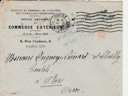 """Lettre  De 1916  En-tête """" Ministère Du Commerce  """" Cachets - 2 Scan"""