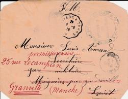 """Fragment De Lettre  De 1918 - Cachet """" Détachement De Nouatre Maillé Sapeurs... """" Divers Cachets"""