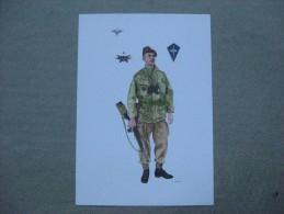 Affiche : Dessin D´un Commando Parachutiste Guerre D´ Indo-Chine - Documents