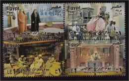 Ägypten 2014 Michel Nr. 2517-20 Welttag Des Kulturerbes Museum Apotheke - Egypte