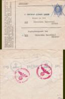 PETAIN N° 520 2f50 SEUL Sur Lettre CENSURÉE  > MINES DE BOR SERBIE - Annulation à L'arrivée - Serbien - Poststempel (Briefe)