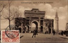 Cp Konstantinopel Istanbul Türkei, Entrée Et Tour Du Séraskérat, Toreingang - Turkey