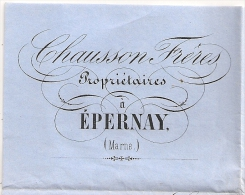 CHAMPAGNE CHAUSSON Frères EPERNAY Marne Sur  Lettre 20c NAPOLEON. - Postmark Collection (Covers)