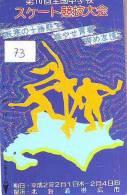 Telecarte PATINAGE Schaatsen Japan (73) ICE-HOCKEY * EISLAUF SPEEDSKATING SKATING Phonecard Japon - Sport