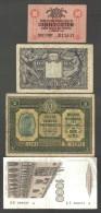 ITALIA 4 BONCONOTE LOTTO 1008 - [ 9] Collezioni