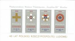 Pologne Poland Polen Polska BF** YT 103 Médailles Expo SOCPHILEX 84 - Blocks & Sheetlets & Panes