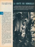 1962 : Document, LA GROTTE DES DEMOISELLES (2 Pages Illustrées) Saint-Bauzille-le-Putois, Montagne De Taurac - Vieux Papiers