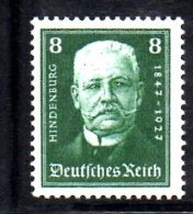 GERMANIA IMPERO 1927 , N. 394 * . Hindenburg . Linguella Pesante - Germania