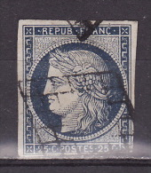FRANCE 1849. Mi 4c Dark Blue, USED - 1849-1850 Ceres
