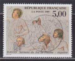 = Serment Du Jeu De Paume Par David N°2591 Oblité Bicentenaire Révolution & Déclaration Des Droits De L'Homme Du Citoyen - Frankreich