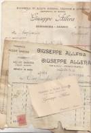 BORGOSESIA ARANCO - LOTTO DI 4 FATTURE PUBBLICITA 'ALLERA GIUSEPPE -ACQUE GASOSE -  BIRRA -1921 - Unclassified