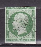 FRANCE 1853. Mi 11a PC 1395, USED - 1853-1860 Napoleon III