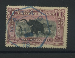 26A  Elephant  Olifant  Ø Hexagonale  MATADI - 1894-1923 Mols: Usati