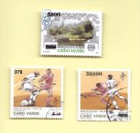 TIMBRES -  STAMPS - CAP VERT / CAPE VERDE - 1997 - TIMBRES DE 1987 ET 1990 AVEC SURCHARGE NOIR - TIMBRES OBLITERÉE - Cap Vert