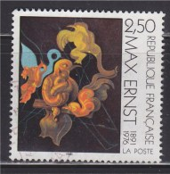 """= Centenaire De La Naissance De Max Ernst Emission Conjointe France-Allemagne """"Après Nous La Maternité"""" N°2727 Oblitéré - France"""
