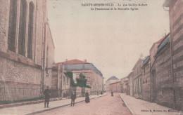 SAINTE-MENEHOULD La Rue Gaillot-Aubert Le Pensionnat Et La Nouvelle Eglise (1910) - Sainte-Menehould