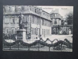 "AK 1. WK. 1917 Jean - Paul Denkmal Bayreuth. Soldatenbrief - Stempel Reservelazarett Bayreuth I ""Lehrerbildungsanstalt"" - Bayreuth"