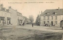 23 LAVAVEIX LES MINES - ROUTE D AHUN  ( DEVANTURE HOTEL DE FRANCE ) - Francia