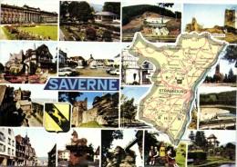SAVERNE  Plan Departemental Bas Rhin + Multivues Saverne Blason Recto Verso - Maps