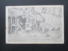 AK / Künstlerkarte 1915 Praktisch Und Bewährt Sind Feldkochherde Typ 1914 - 15 Marke Weltbrand. Skizze / Zeichnung - Ausrüstung
