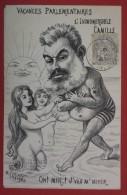 VACANCES PARLEMENTAIRES - L'INSUBMERSIBLE CAMILLE - Belle Caricature Politique Illustrée Par LAVIGNE - Satiriques