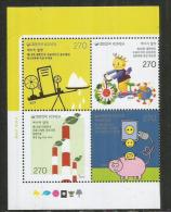 CORÉE Du SUD. L'électricité En Corée (Saving Energy) Un Bloc De 4 Timbres Neufs ** Année 2013 - Elektrizität
