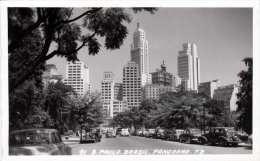 SAO PAULO (Brasil) - Panorama, Alte Autos, Fotokarte 1954 - São Paulo