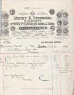 Lettre 1909 HENRY C STEPHENS Chimiste Encres à Copier  LONDON - Royaume-Uni