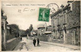 CPA - ORSAY (91) - Aspect De La Rue De Paris Et Des Postes En 1911 - Orsay