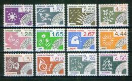 Les 12 Mois De L'année - FRANCE  -  N° 186 à 197 ** - 1985-1986-1987 - Préoblitérés