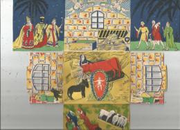 Découpis  , 3 Scans , 27.5 X 25 Déplié , à Système , Fenêtres ,   Frais Fr : 2.70€ - Motif 'Noel'