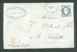 CST Voujaucourt - B.BES. Ligne 71 Belfort-Besançon - TP N° 60 Obl Par Le CST - Marcophilie (Lettres)