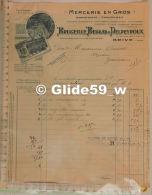 Facture Mercerie En Gros, Bonneterie, Chaussures - BRUGEILLE, BESSAS & DELPEYROUX - Brive Le 25 Août 1934 - France