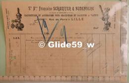 Facture Sté Ame Française SCHAEFFER & BUDENBERG - Manomètres & Accessoires Pour Chaudières & .. - Lille Le 1 - 1900 – 1949