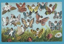 CPA - Fantaisie Bébés Multiples Papillons - Bebes
