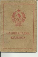 CROATIA  --  CAKOVEC --  DRIVING LICENCE FOR BIKE, BICYCLE,  PERMIS DE CONDUIRE  - 1949 -  WITH TAX STAMP, TIMBRE FISCAL - Documents Historiques