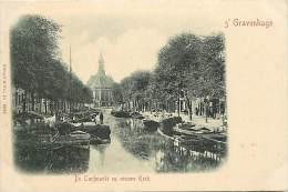 - Pays Divers - Ref -F880 - Pays Bas - Nederland - Den Haag - ´s-gravenhage - De Turfmarkt En Nieuwe Kerk - - Den Haag ('s-Gravenhage)