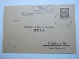 1939 , Malz über Oranienburg ,  Klarer Landpoststempel Auf Brief - Deutschland