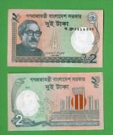 BANGLADESH :  2 Taka  Del  2012   Pick New   FdS  UNC - Bangladesh