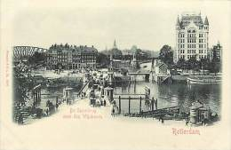 - Pays Divers - Ref -F873 - Pays Bas - Nederland - Rotterdam - Der Sportbrug Over Den Wijnhaven - Carte Bon Etat - - Rotterdam