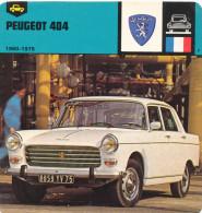 2016020746 Fiche Automobile - Peugeot 404 - Voitures De Tourisme