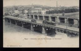 CPA- Suisse  -  Basel - Notbrücke Und Alte Rheinbrücke Mit Kleinbasel - BS Bâle-Ville