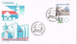 R 1066. Carta Exposicion CALELLA (Barcelona) 1986. Filatem 86 Turimo. Sello Con Viñeta - 1931-Aujourd'hui: II. République - ....Juan Carlos I