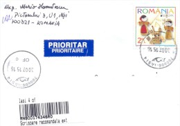 2015. Romania, The Letter By Registered Prioritaire  Post To Moldova - Cartas