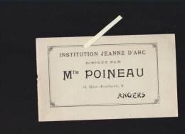 Enseignement - Angers - Institution Melle Poineau, Rue Joubert  - Fascicule Fonctionnement Avec Photos - Publicités