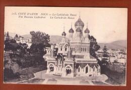 1 Cpa Nice Cathedrale Russe - Monumenten, Gebouwen