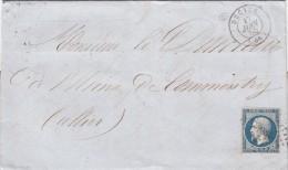 1855. LETTRE. N° 14 BELLES MARGES. NIEVRE DECIZE  / 6890 - Storia Postale